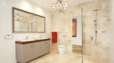 Caroma Cube Wall Faced Invisi II toilet suite bathroom, bathroom accessory, bathroom cabinet, floor, flooring, home, interior design, plumbing fixture, room, tile, wall, orange