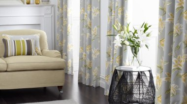 Lily & Marbella - Lily Collection - curtain curtain, decor, floor, flooring, home, interior design, living room, textile, window, window covering, window treatment, gray, white