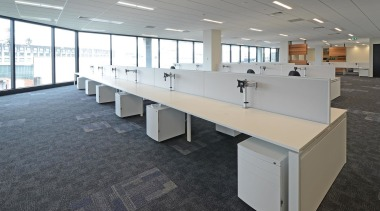 Furniture Lab provided furniture, desking and workstation solutions desk, floor, flooring, furniture, office, real estate, table, gray