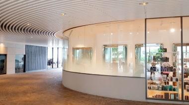 Koda 2 - architecture   building   ceiling architecture, building, ceiling, floor, glass, interior design, lobby, room, gray