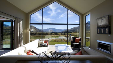 Living room with windows that frame the nature daylighting, estate, home, house, interior design, living room, property, real estate, window, black