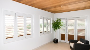 Bright upstairs deck with wooden and white colors daylighting, door, floor, home, interior design, real estate, window, window blind, window covering, window treatment, wood, white