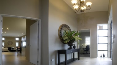 Bright entry and family rooms in Verona - architecture, ceiling, daylighting, estate, home, house, interior design, lobby, property, real estate, gray, brown
