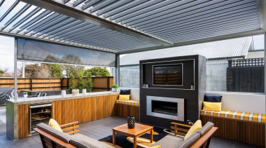 Silencio Rotating Louvres - interior design | outdoor interior design, outdoor structure, patio, real estate, roof, gray, black