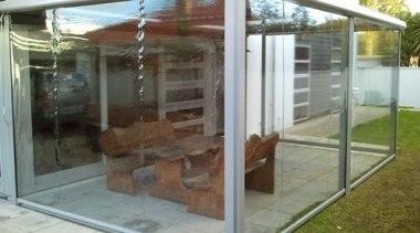 Calido Zip Outdoor Screen outdoor structure, gray, brown