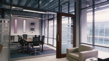 Office Concepts sourced individual suppliers to put together ceiling, interior design, lobby, office, real estate, gray, black