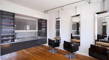 Salon interior design by Yellowfox apartment, flooring, interior design, living room, real estate, white