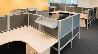 Plus3 offers optimum adaptability and its lightweight construction desk, floor, flooring, furniture, office, black