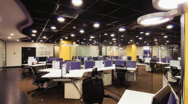 Lively, ergonomic office interiors create a stimulating work ceiling, interior design, office, black