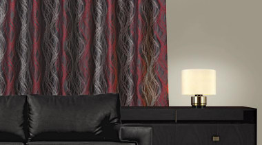 Tease Room Flame - couch | curtain | couch, curtain, interior design, textile, wall, window covering, window treatment, black, gray