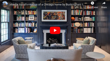Transformation Of A Chicago Home - furniture | furniture, home, interior design, living room, room, shelving, black, gray