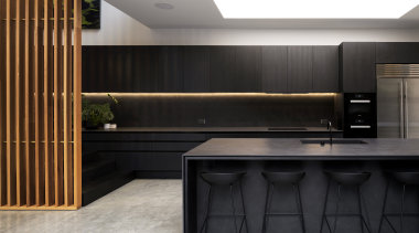 This large functional family kitchen in an addition