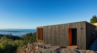 Urbanfunction Architecture – Finalist – 2019 TIDA Homes architecture, blue, building, calm, coast, facade, home, house, property, real estate, roof, sea, shed, sky, wall, wood, teal