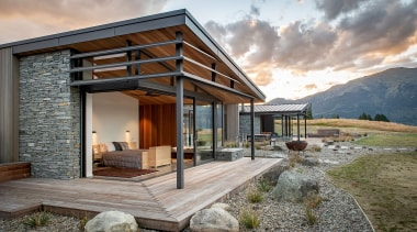 Condon Scott Architects – Highly Commended – 2019 architecture, building, ceiling, cottage, design, estate, facade, farmhouse, home, house, interior design, landscape, mountain, natural landscape, property, real estate, residential area, rock, roof, room, siding, sky, window, wood, gray