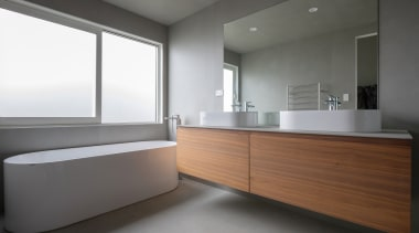 Matisse – Highly Commended – TIDA New Zealand architecture, bathroom, floor, interior design, room, sink, gray