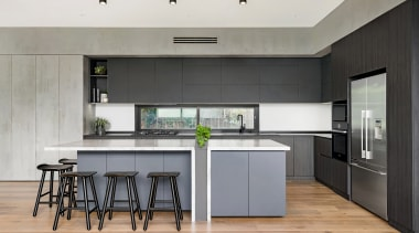 A core aspect of this kitchen's plan was