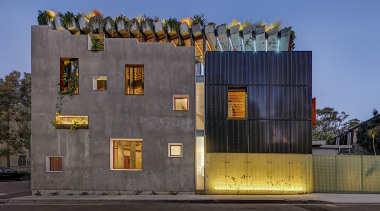 CplusC Architectural Workshop – Winner – 2019 TIDA architecture, building, facade, home, house, material property, residential area, sky, wall, yellow, gray, blue