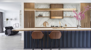 Interior spaces of this new modern, elegant home,