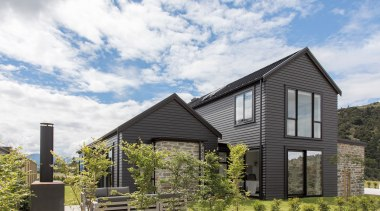 GJ Gardner Wanaka – Finalist – 2019 TIDA architecture, building, cloud, cottage, estate, facade, farmhouse, grass, home, house, land lot, landscape, neighbourhood, property, real estate, residential area, roof, rural area, siding, sky, suburb, tree, white