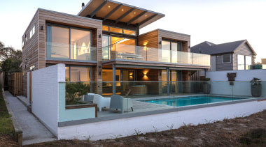JMAC Architecture – Highly Commended – 2019 TIDA architecture, backyard, building, design, estate, facade, home, house, interior design, property, real estate, residential area, roof, room, siding, swimming pool, villa