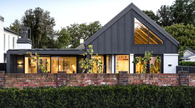 Barry Connor Design – Finalist – 2019 TIDA architecture, building, cottage, estate, facade, farmhouse, grass, home, house, property, real estate, residential area, roof, siding, tree, black, white