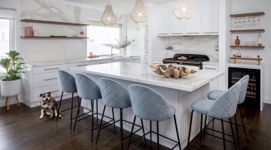 The kitchen in this major renovation makes much
