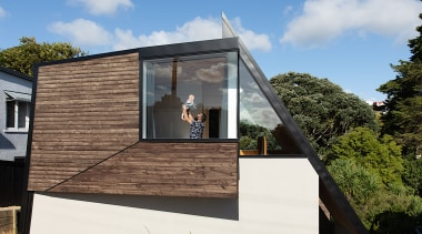TOA – Highly Commended – 2019 TIDA Homes architecture, building, cottage, facade, home, house, material property, property, real estate, residential area, roof, room, siding, tree, wall, window