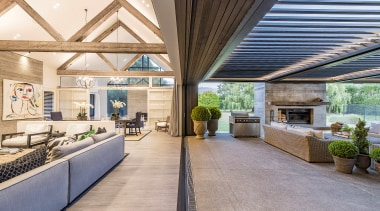 O'Neil Architecture – Runner-up – 2019 TIDA Homes architecture, building, ceiling, daylighting, design, estate, floor, flooring, furniture, home, house, interior design, living room, lobby, property, real estate, roof, room, white, gray