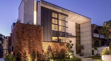 ES Design – Highly Commended – 2019 TIDA apartment, architecture, brick, building, condominium, estate, facade, home, house, interior design, lighting, material property, mixed-use, property, real estate, residential area, room, tree, blue