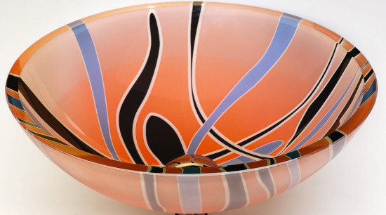 view of the colourful basin bowl, ceramic, orange, product design, tableware, white, orange