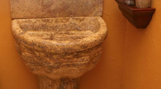 Image of custom made basin by de la ceramic, plumbing fixture, wood, brown, orange