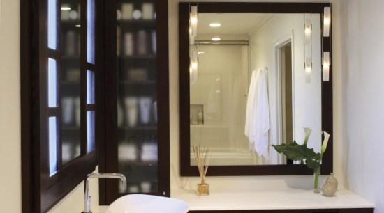 Image of a bathroom designed by an NKBA bathroom, bathroom accessory, interior design, room, orange