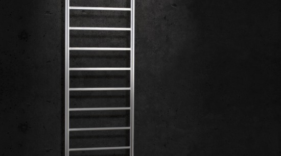 Image of a heated towel rail available from black, black and white, darkness, light, line, monochrome, monochrome photography, photography, still life photography, structure, wall, wood, black