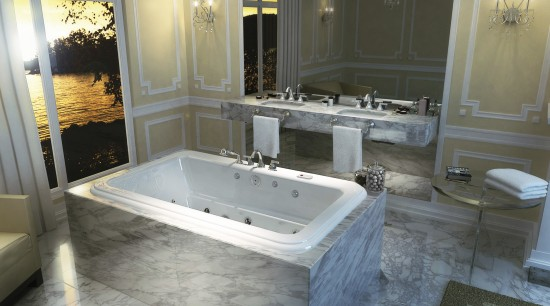 View of a bathroom which features a bathtub bathroom, bathtub, floor, interior design, room, gray