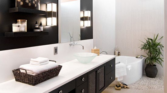View of a bathroom which features mango-coloured walls, bathroom, interior design, product design, room, white