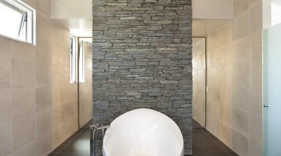 Interior view of this contemporary bathroom architecture, bathroom, ceiling, ceramic, daylighting, floor, flooring, interior design, plumbing fixture, room, sink, tile, wall, gray
