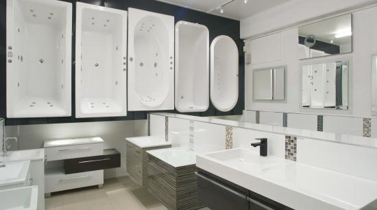 bathtubs and vanities bathroom, bathroom accessory, bathroom cabinet, cabinetry, countertop, floor, interior design, kitchen, product design, room, sink, gray