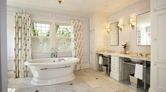 bathroom mouldings for the walls, a feature that bathroom, estate, floor, flooring, home, interior design, property, real estate, room, tile, window, gray