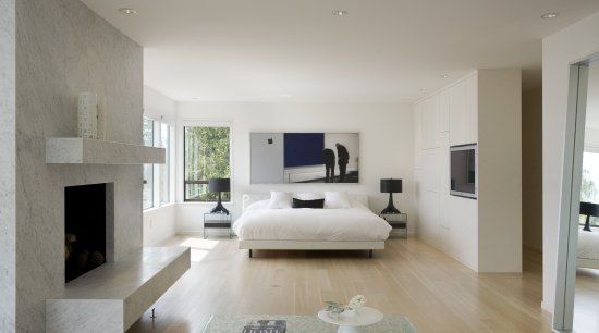 White walls and bed linen, and a white-stained architecture, ceiling, floor, flooring, hardwood, home, house, interior design, interior designer, living room, property, real estate, room, wall, wood flooring, gray
