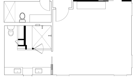 master bathroom plan of  home owned by angle, area, black and white, design, diagram, drawing, floor plan, font, line, line art, monochrome, paper, pattern, product, product design, square, text, white, white