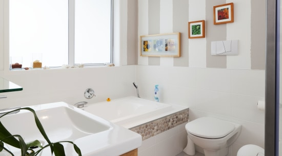 Resene SpaceCote Kitchen & Bathroom paint architecture, bathroom, floor, home, interior design, real estate, room, gray