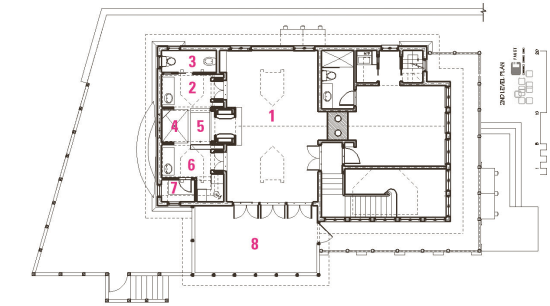 Plan of mountain vacation home architecture, area, design, diagram, drawing, floor plan, line, plan, product design, structure, white