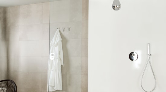 Transitional Gessi bathroomware bathroom, bathroom sink, ceramic, floor, interior design, light fixture, plumbing fixture, product design, sink, tap, wall, white