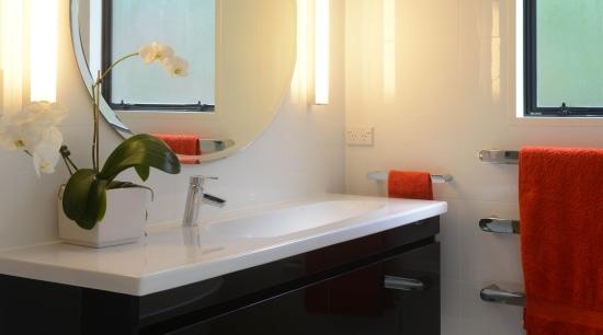 Bathroom renovation by Home Trends bathroom, floor, interior design, room, sink, gray
