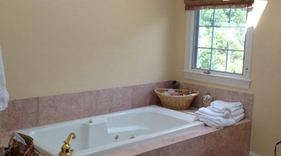 Tranquil, private bathroom sanctuary bathroom, bathtub, floor, flooring, home, house, interior design, plumbing fixture, property, room, sink, tile, wall, window, gray