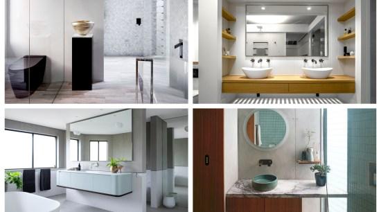 2019 TIDA Australia Bathroom winners - 2019 TIDA architecture, bathroom, bathroom accessory, bathroom cabinet, building, ceiling, door, floor, flooring, furniture, home, house, interior design, material property, plumbing fixture, product, property, room, tile, white, gray