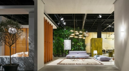 """Living by Moods"", Studio Truly Truly's Das Haus architecture, building, ceiling, floor, flooring, furniture, home, house, interior design, lobby, property, real estate, room, gray, black"