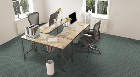Beton Hex Mosaics are full-bodied porcelain, suitable for chair, desk, floor, flooring, furniture, hardwood, office, table, wood flooring, gray