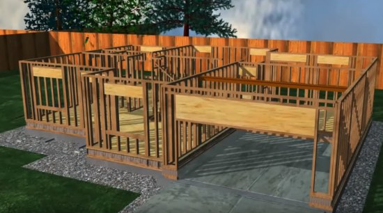 Ezybuilding Video - backyard | biome | deck backyard, biome, deck, home, outdoor structure, real estate, shed, wood, wood stain, brown