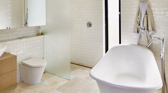 One rule of thumb is to ensure that architecture, bathroom, beige, bidet, ceramic, floor, flooring, interior design, material property, plumbing fixture, property, real estate, room, tap, tile, toilet, toilet seat, wall, gray